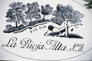 Sign for La Rioja Alta winery