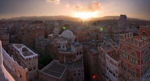 Skyline of Sanaa (Unesco World Heritage City), Yemen