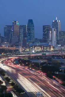 Skyline & Stemmons Freeway, Dallas, Texas, USA