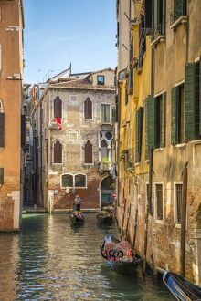 Small canal near the Rialto in Venice, Veneto, Italy