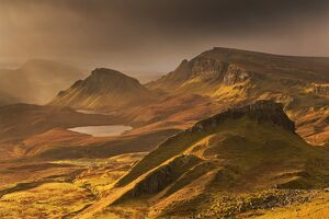 Spectacular light over the Trotternish Range from the Quiraing in the Isle of Skye