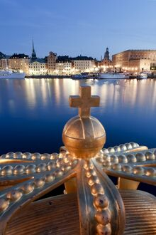 Stadsholmen Island and Gamla Stan from Skeppsholmen Bridge, Stockholm, Sweden