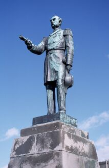 Statue of Danish King from when Iceland was a colony of Denmark