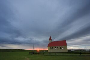 Sundown Church, Brimilsvellir, Olafsvik, Snaefellsness Peninsula, Iceland