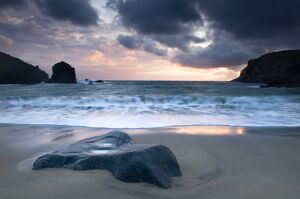 Sunset on Dalbeg beach, Isle of Lewis, Hebrides, Scotland, UK