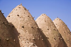 Traditional beehive houses made of mud in the village of Sarouj