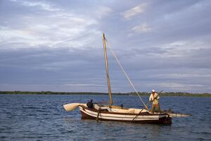 A traditional dhow makes its way to Ibo Island in the