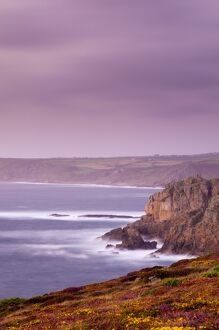 UK, England, Cornwall, Lands End looking North towards Sennen Cove