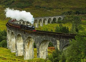 uk scotland highlands jacobite steam train