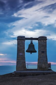 Ukraine, Crimea, Sevastopol, Khersoness, Fog bell - which comes from a Crimean War cannon