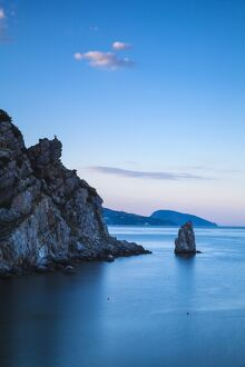 Ukraine, Crimea, Yalta, 'The Sail' rock, near Swallows Nest
