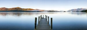 United Kingdom, England, Cumbria, Lake District National Park, Derwent Water, Wooden