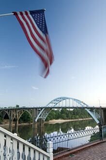 USA, Alabama, Selma, Edmund Pettus Bridge, American Civil Rights Movement Landmark