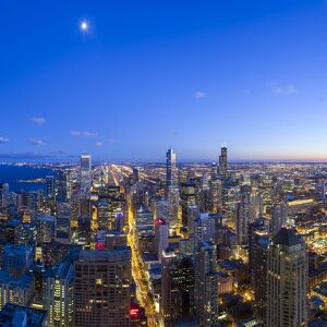 USA, Illinois, Chicago, Downtown City Skyline