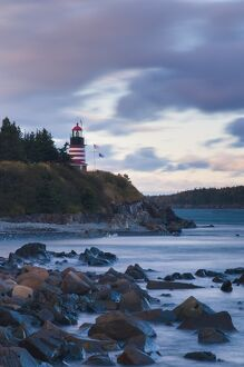 USA, Maine, Lubec, West Quoddy Lighthouse