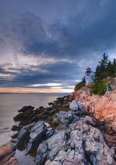 USA, Maine, Mount Desert Island, Bas Harbor, Bas Harbor Lighthouse