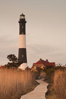 USA, New York, Long Island, Fire Island, Robert Moses State Park, Fire Island Lighthouse