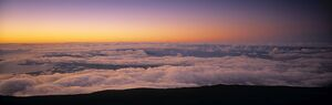 View over clouds at Dawn