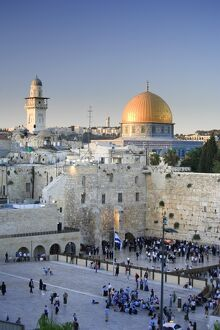 Wailing Wall / Western Wall and Dome of The Rock Mosque