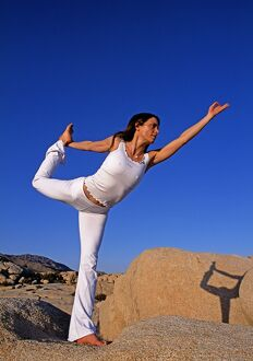 Yoga in the Joshua Tree National Park