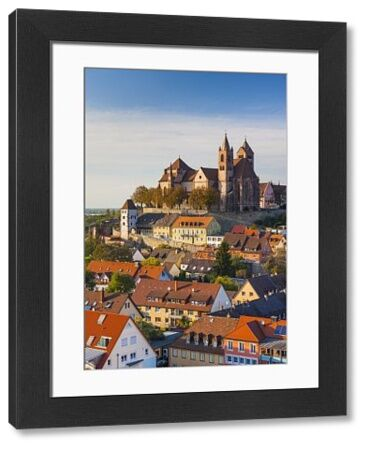 Germany, Baden-Wurttemburg, Black Forest, Breisach, St. Stephansmunster cathedral, built 15th century, elevated view