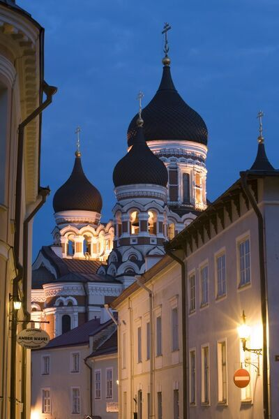 Alexander Nevsky Church at Dusk, Tallinn, Estonia
