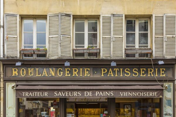 Boulangerie/Patisserie sign, Paris, France