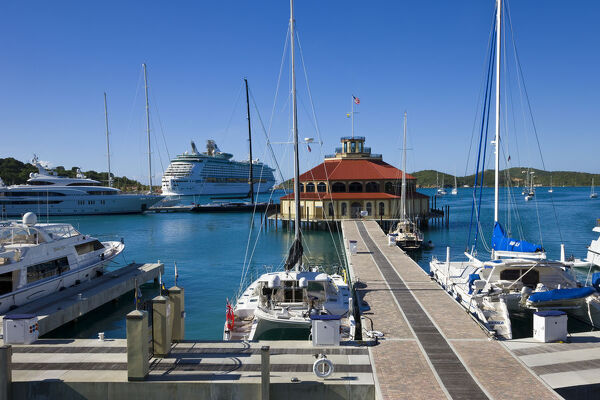 Caribbean, US Virgin Islands, St. Thomas, Yacht Haven Grande, the new Yacht Harbour