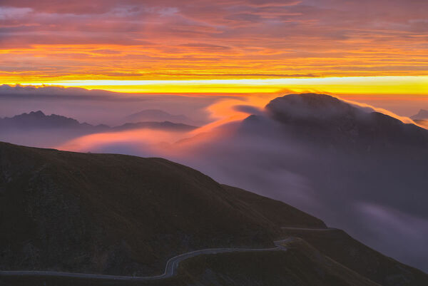 Mount Maniva at sunrise, Province of Brescia, Lombardy, Italy