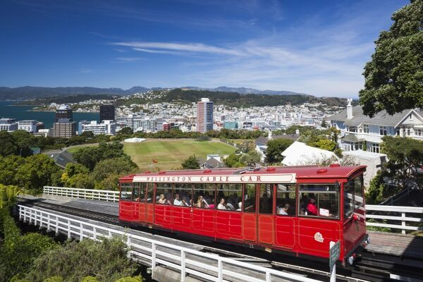 New Zealand, North Island, Wellington, Wellington Cable Car, Wellington Botanic Gardens