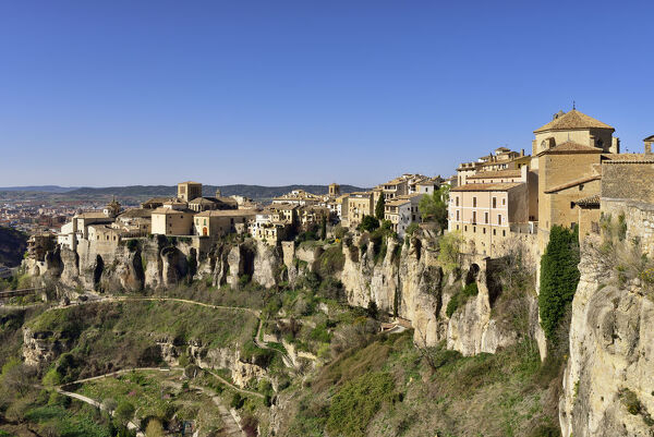 The walled town of Cuenca, a Unesco World Heritage Site. Castilla la Mancha, Spain