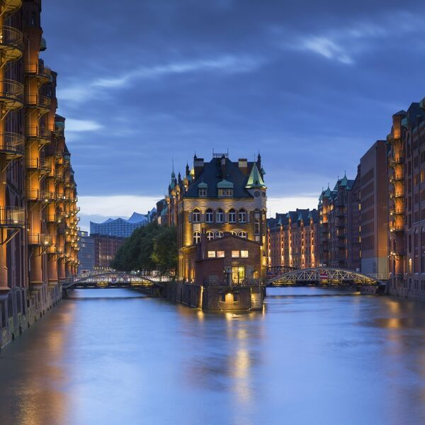 Warehouses of Speicherstadt (UNESCO World Heritage Site), Hamburg, Germany