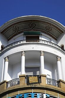 Art Deco details on an old French colonial building