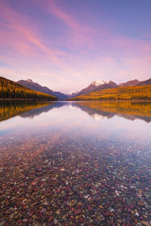 new july 2019/autumn colours sunset bowman lake glacier national