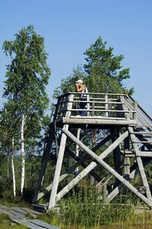 Baltic States Latvia Observation Platform in the protected