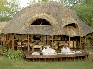 The bar and living area of Elsa's Kopje in Meru National Park