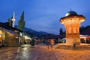 Bascarsija, Old Turkish Quarter and Sebilj Fountain