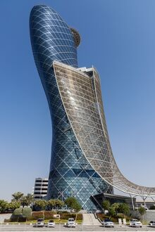 Capital Gate skyscraper in Abu Dhabi, United Arab Emirates has been certified by
