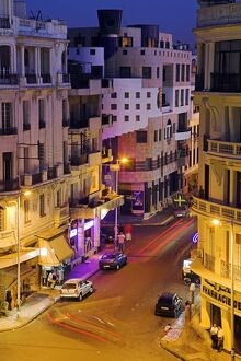 Casablanca street scene at night