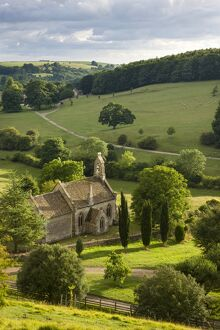 Church of St Mary the Virgin surrounded by beautiful countryside, Lasborough in the