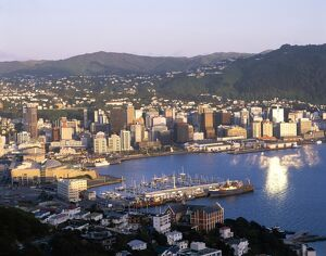 City Skyline & Harbour, Wellington, North Island, New Zealand