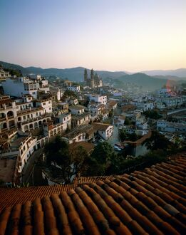 City Skyline & Rooftops, Taxco, Mexico