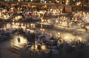 Eateries operate from dusk until late at the Djemaa el Fnaa