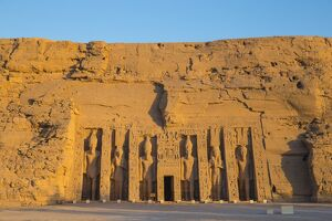 Egypt, Abu Simbel, The small temple -known as Temple of Hathor - dedicated to Nefertari