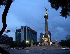 El gel de la Independencia ('The Angel of Independence')