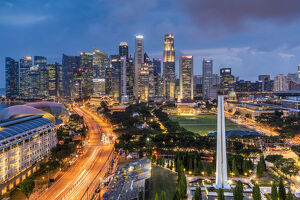 Financial district skyline, Singapore