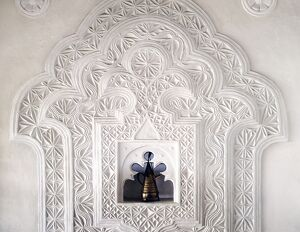 A fine example of decorative Lamu plasterwork gracing