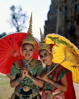 Girls Dressed in Traditional Dancing Costume