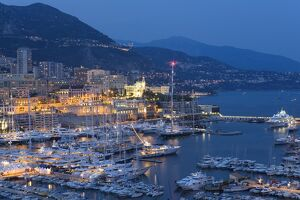 Harbour at dusk, Monte Carlo, Monaco