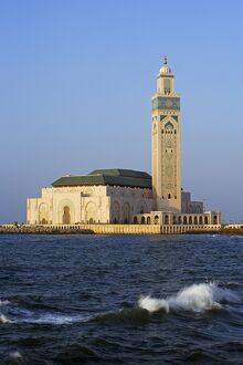 The Hassan II Mosque in Casablanca is the third largest